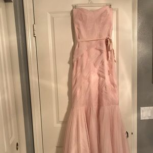 Blush Monique Lhuillier Strapless Gown